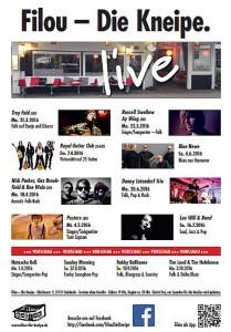 Konzerte im Filou Steinhude 2016 / 1 - Übersicht zum Download