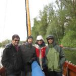 Blind Willies auf Bootsfahrt am Steinhuder Meer