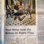 Konzertankündigung in der Leine Zeitung Wunstorf